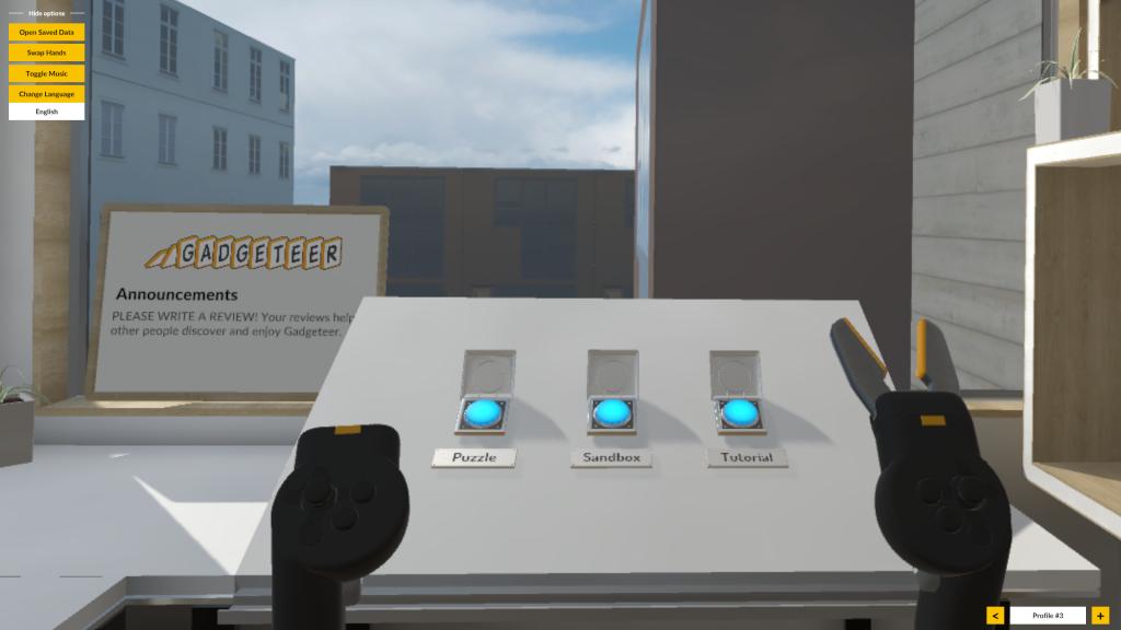 gadgeteer player profile desktop ui switch