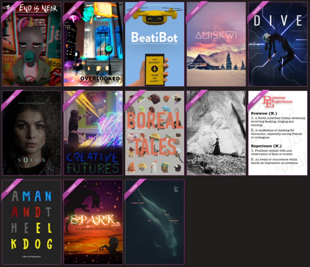 13 awarded teams of the 2018 STORYHIVE Immersive Edition